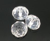 100 x 6mm Clear Crystal  Beads